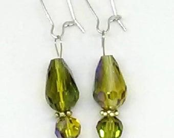 Faceted Teardrop Earrings