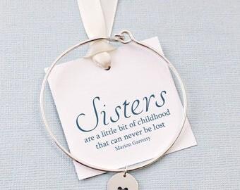 Sister Bracelet | Heart Tag Bracelet, Bangles Band, Gift for Sister, Gift for Sisters,  Bangle, Gifts for Sisters, Sister Boho Gift | S07