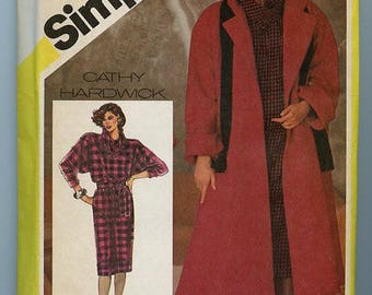 Simplicity Pattern 6572 - Lady's unlined coat and dress by Cathy Hardwick