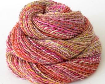 Handspun Lace Yarn, Vegan Faux Cashmere Yarn - 1.75oz, 190yd, WPI 22,