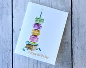 Macaroon Stack Birthday Card