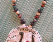 Tribal Ethnic African Trading Beads Necklace - Jewelry Assemblage Wearable Collage Folk Art Found Objects mybonny random recycled materials