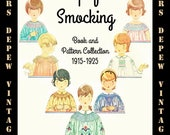 Vintage Sewing Booklet Simplified Smocking 1915 Pattern Collection E-book - INSTANT DOWNLOAD