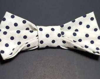 Black and White Polka Dot Boys' Bow Tie