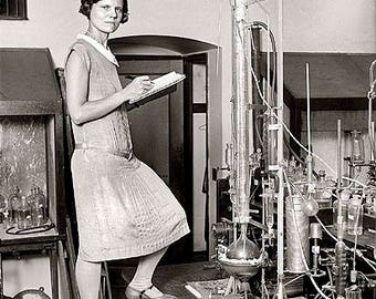 Female Scientist 1920's Photo