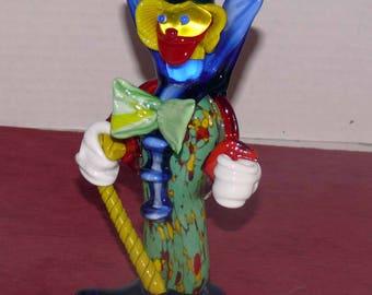 Murano Italian Blown Glass Clown