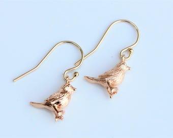 Gold Bird Earrings, Seagull Stud Earrings, Bird Earrings, Gold Earrings, Gold Plated Brass, lovely gift, for her