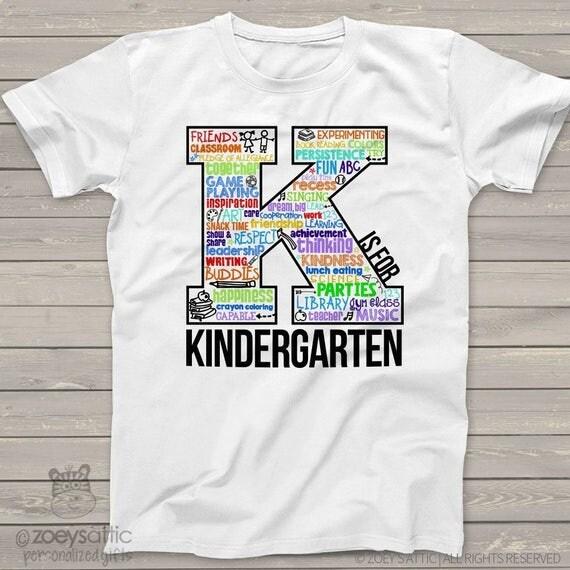 kindergarten t shirt back to school kindergarten shirt word. Black Bedroom Furniture Sets. Home Design Ideas