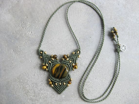 Faërie . Tiger Eye Micro Macrame Necklace . © Design by .. raïz ..