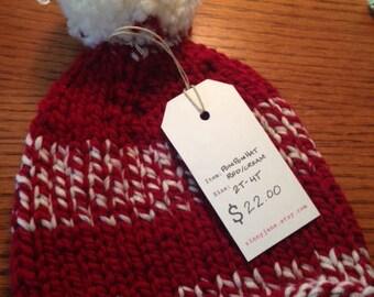 Hand Knitter PomPom Hat