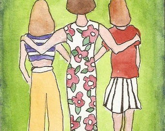 "ACEO ""Sisters"" print"