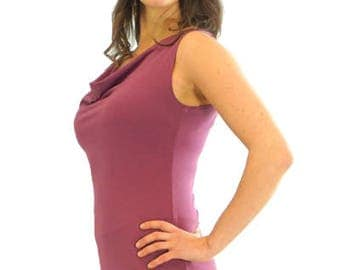 Simple Cowl Tank - XS - ROSE - Organic Cotton/Spandex