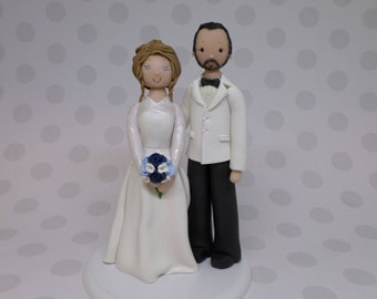 Bride & Groom Personalized Wedding Cake Topper - reserved for jsoule2