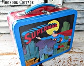 ViNTaGe HaLLMaRK SUPERMAN SCHooL DaYS 1950's RePLiCa LuNCH BoX - SeaLeD IN ORiGiNaL WRaPPeR!