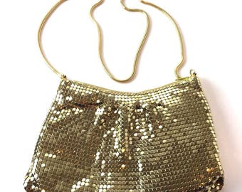 Vintage 1940's La Regale Gold Mesh Purse Evening Bag