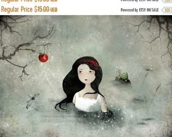 50% Off - Summer SALE Snow White - open edition print