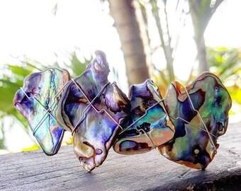 Paua Shell Barrette, Hair Clip, Abalone Hair Clip,  New Zealand Paua, Wedding accessory, mermaid gift, Hair Decoration, Beach Barrette