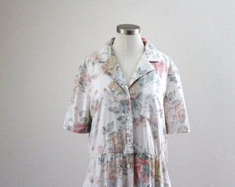 90s Dreamy Pastel Floral Dress