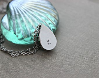 Teardrop Urn Pendant - Cremation locket - Stainless Steel - Personalized memorial Charm - Can be Customized with initials - memorial jewelry