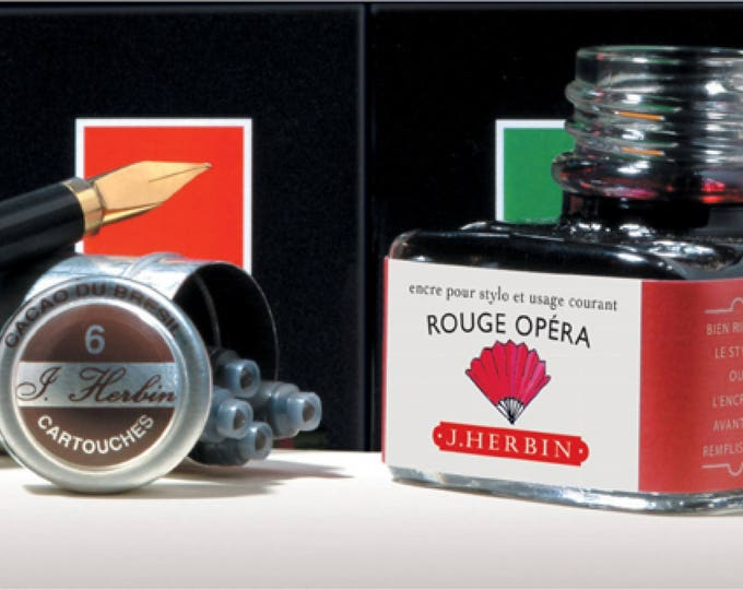 Featured listing image: J. Herbin Fountain Pen Ink  -  Rouge Opera - 1 oz Bottle