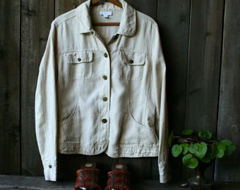 Vintage Linen Jacket Charter Club 1990s Linen Color Vintage From Nowvintage on Etsy