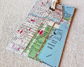 Chicago Illinois luggage tag made with original map