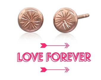 14k Gold Stud Earrings • Tiny Gold Posts • Tiny Studs Gift for Her • Tiny Stud Earrings Gift for Girls • Everyday Earrings