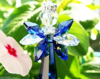 Angel Rear View Mirror Charm Swarovski Crystal Suncatcher for Car Accessories Rearview Mirror