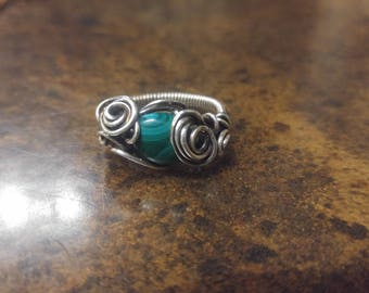 ORPHEUS - Malachite and Silver Ring