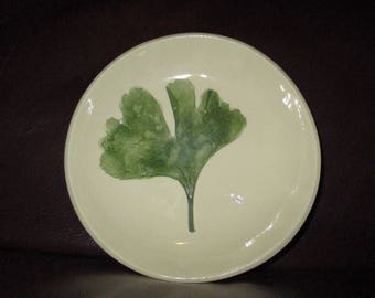 Real GINGKO Leaf Handmade Ceramic wall hanging                                     234