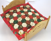 Dollhouse Miniature Patchwork Quilt in 12th Scale - Christmas
