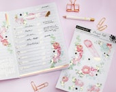 Watercolor floral and gold foil 2pk