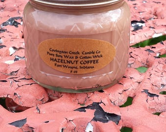 Coffee Scented Pure Soy Candle. Multiple Sizes.