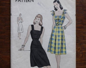 Vogue Sewing Pattern 5784 One Piece Sun Dress Summer Size 18 Bust 36 Hips 39 Easy to Make 1940s VINTAGE by Plantdreaming