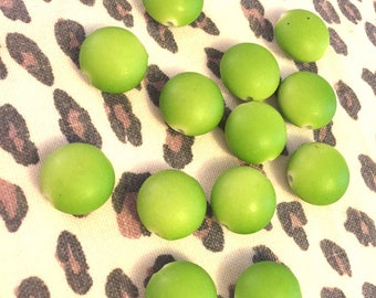 Supplies - Lot of Lime Green Plastic Beads - Quantity 13