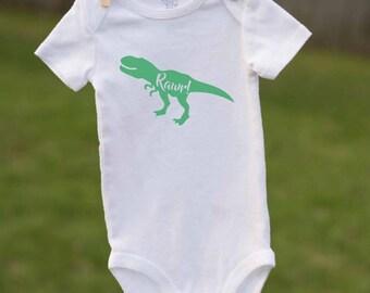 Dinosaur Bodysuit / Dinosaur Baby / Dinosaur Name Shirt /  Baby Shower Gift / Babysaurus / Dino Baby / Dinosaur Rawr / Dinosaur Creeper