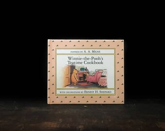 Winnie The Pooh Teatime Cookbook, Vintage Winnie the Pooh Book, Vintage Children's Book, Vintage Cookbook, A. A. Milne