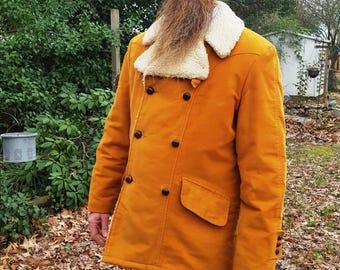 Mens Coat, 70s Coat, Vintage Coat, Sears Coat, Winter Coat, Vintage Costume, Mens 70s Coat, 70s Costume, Pile Lined Coat, Vintage Sears