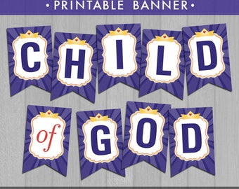 2018 LDS Primary Theme Printable Banner (Instant Download) - I Am a Child of God