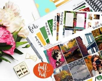 Fall in the Park Full Weekly Planner Vertical Student Sticker Kit Glossy - Stick to Your Story
