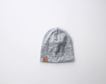 Cozy Grey Slouch Beanie | baby slouch beanie | grey baby outfit | newborn baby | unisex baby
