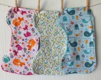 Animals Burp Cloth Set FREE SHIPPING Repurposed
