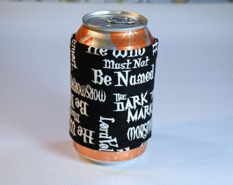 Harry Potter Can/ Bottle Cozy/ Home Decor/ Housewarming/ Kitchen Decor/ Hostess Gift/ Wedding Gift/ Gift for her/ Fun gift/ Boyfriend gift