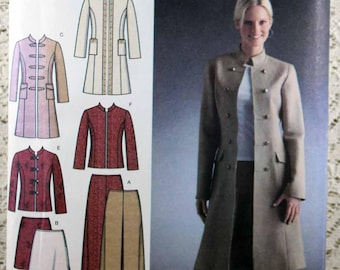 Simplicity 4099, Misses' Coat or Jacket, Skirt and Pants Sewing Pattern, Misses Size 14 - 22, Easy Sewing Pattern, Uncut