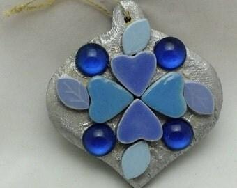 Silver & Blue Ornament