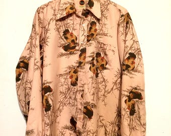 Rooster Print Disco Shirt