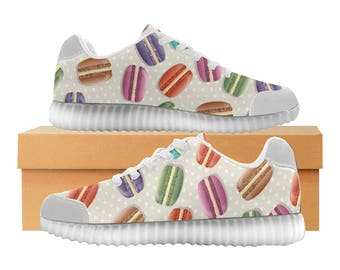 Macarons LED Light Up Shoes | Boys Girls Womens Sizes | High Stretch Upper | EVA + Mesh Fabric Insole | 7 Colors | Bold Design | Fashion