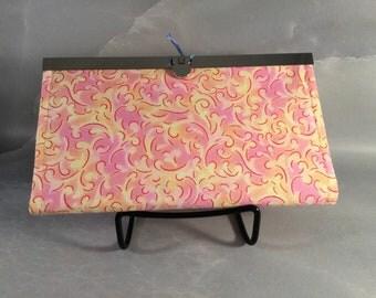 Handmade Pink and Yellow Filigree Diva Wallet