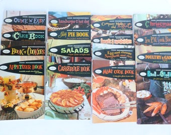 Good Housekeeping Cookbook Series Booklets Lot 1958 Retro Mid Century Meal Planning Recipes