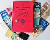 "1946 ""New Encyclopedia of Modern Sewing Book"" plus Vintage Notions Bundle ""Fun Seamstress Gift"""